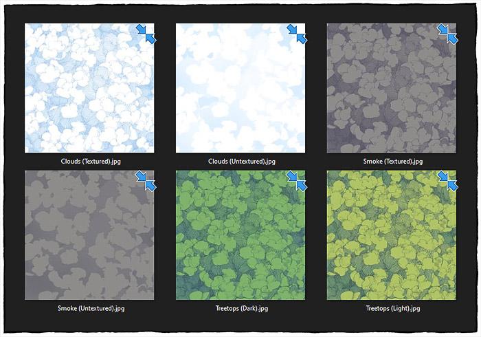 Cloudy Sky - Map Textures