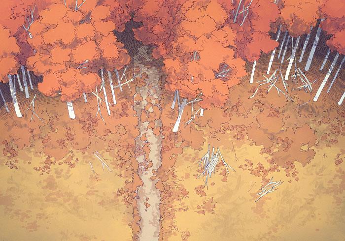 Edge of the Woods - Autumn - 22x16