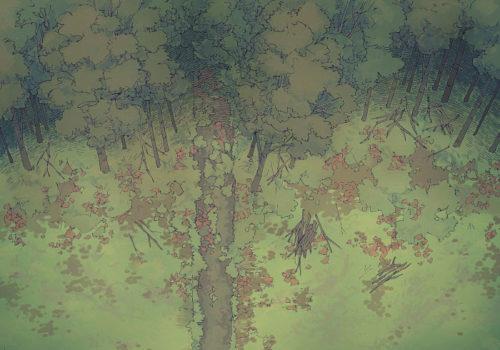 Edge of the Woods - Mirky - 22x16