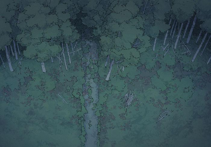 Edge of the Woods - Night - 22x16