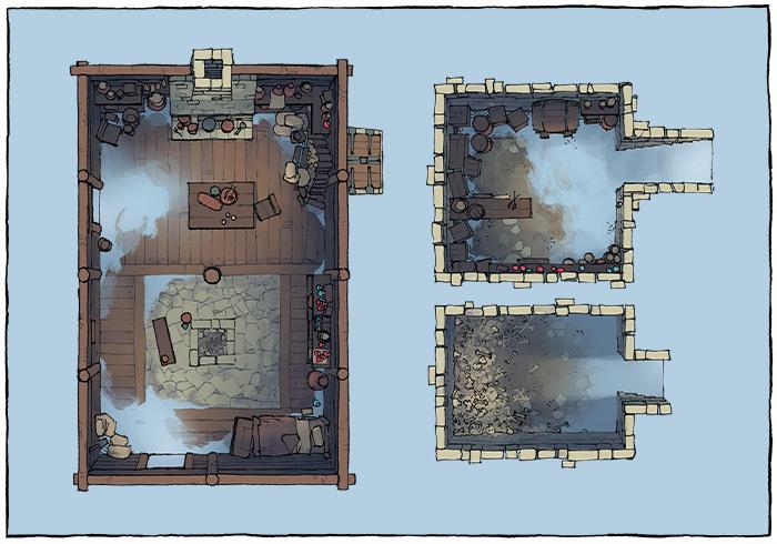 Sinister Cabin battle map - Abandoned variant