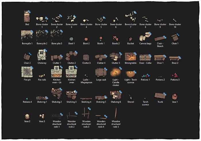 Sinister Cabin battle map - Assets