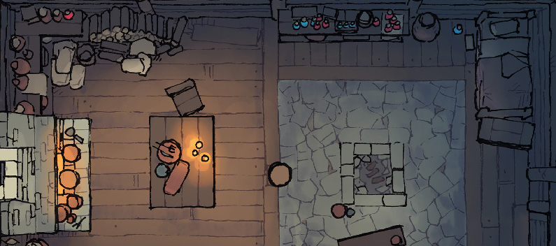 Sinister Cabin battle map - Banner small