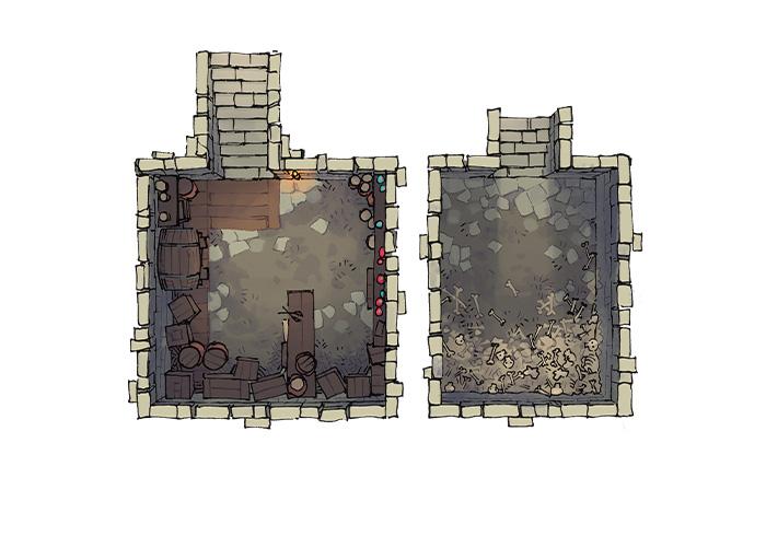 Sinister Cabin battle map - Basements
