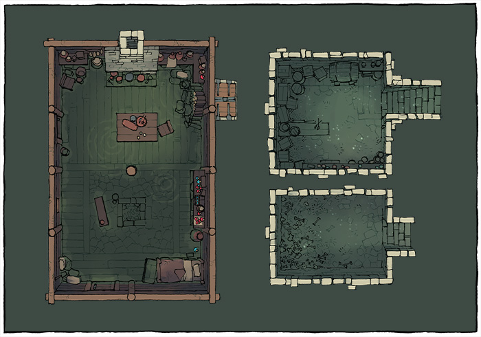 Sinister Cabin battle map - Flooded variant