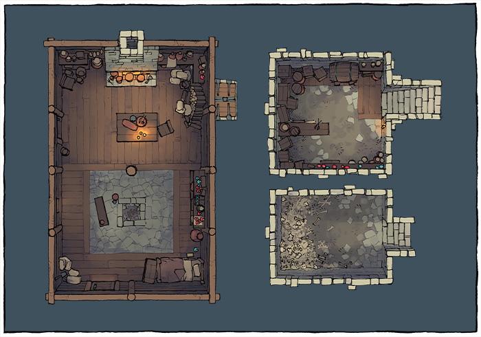 Sinister Cabin battle map - Occupied variant