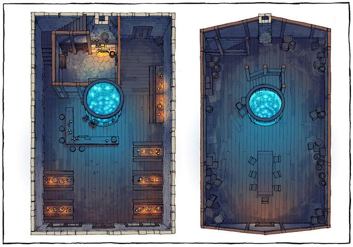 The Shanty - Aquarium - Dark - 22x16 - Complete