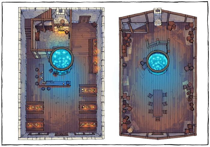 The Shanty - Aquarium - Light - 22x16 - Complete