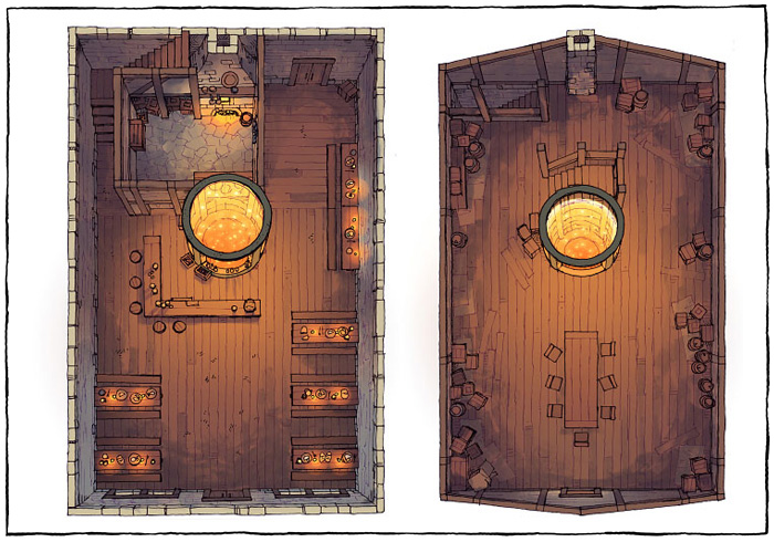 The Shanty - Meadery - Dark - 22x16 - Complete