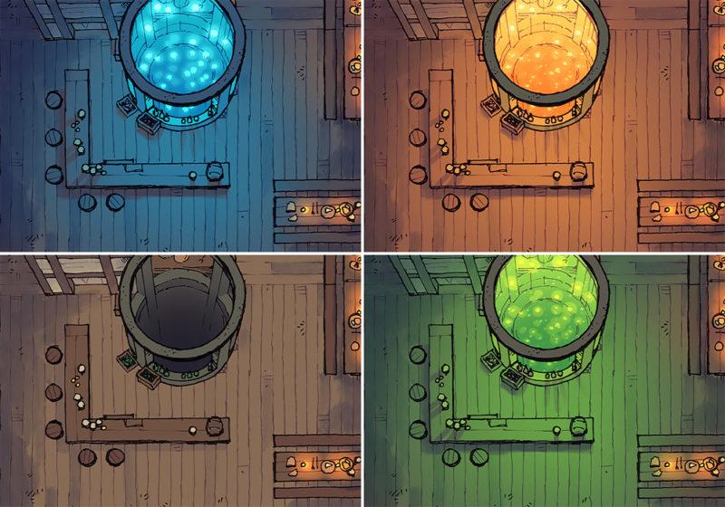 The Shanty tavern map variants