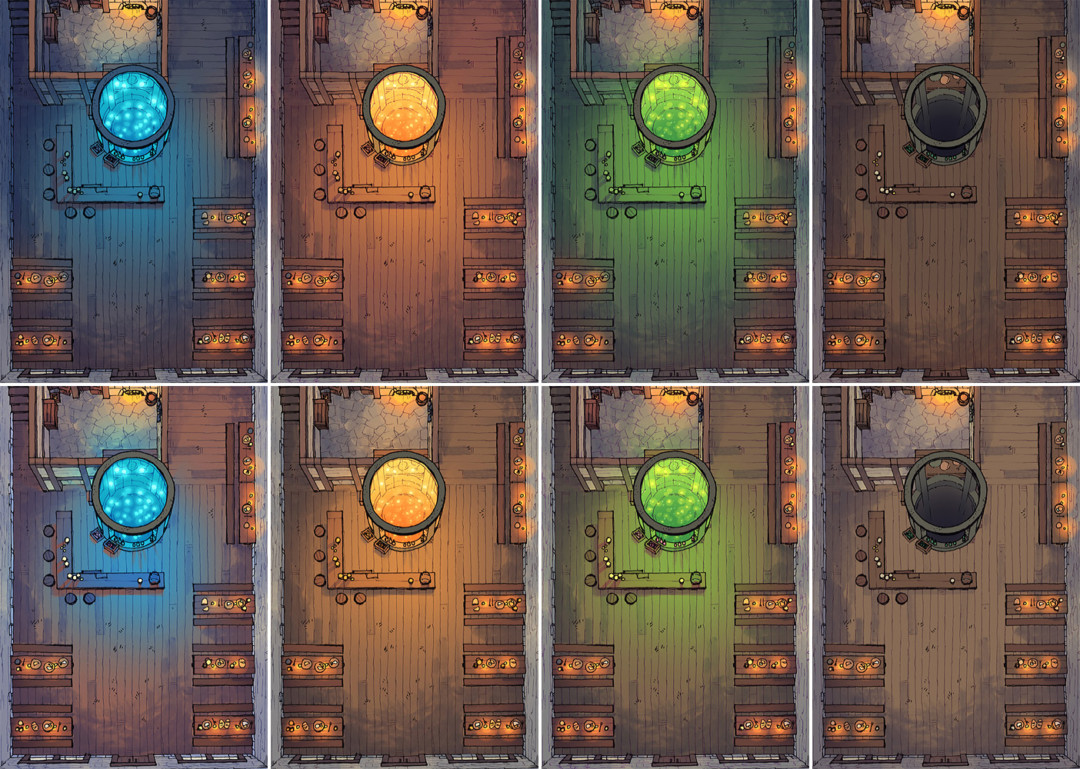 The Shanty tavern map variants - Extended