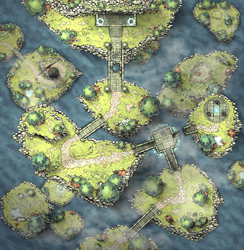 Flying Islands - Entrance v1.0 40x41 140pps