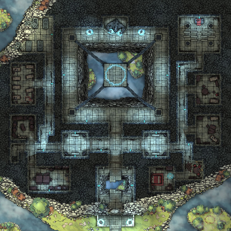 Flying Islands - Temple v1.0 40x40 140pps