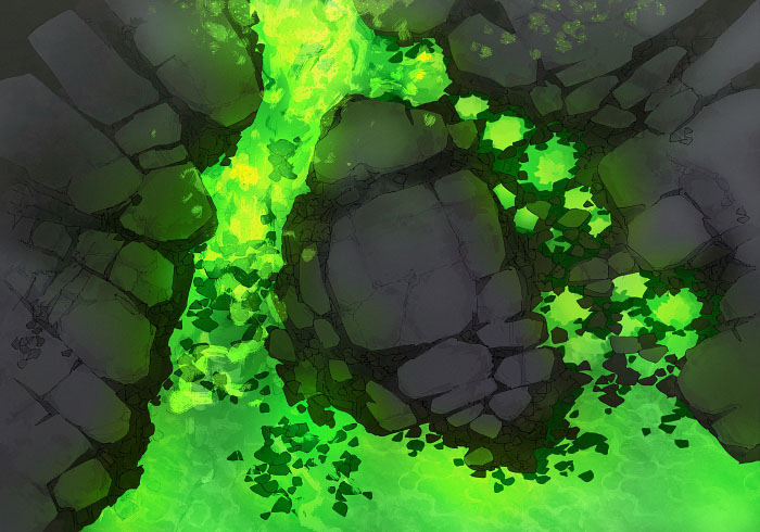 Rock Pools - Desolate - Acid - 22x16