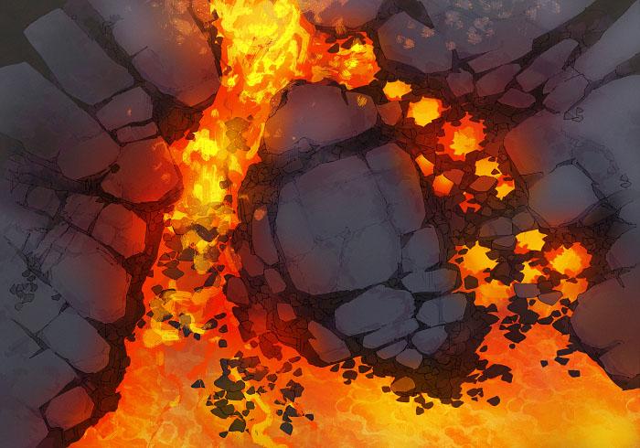 Rock Pools - Desolate - Lava - 22x16