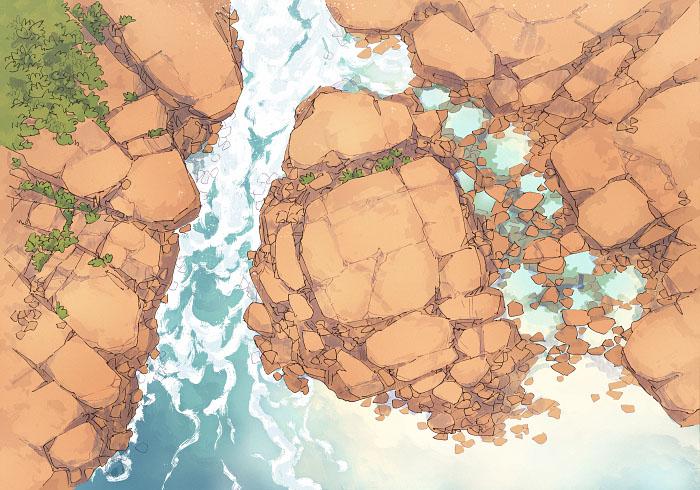 Rock Pools - Secret Beach - Day - 22x16