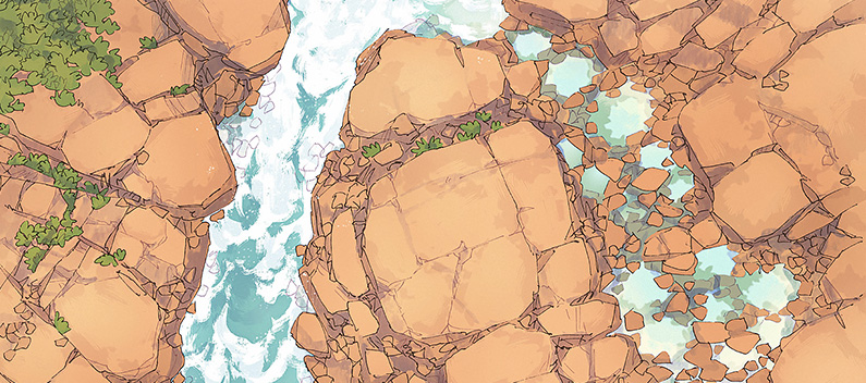 Rock Pools battle map - Banner 1 small