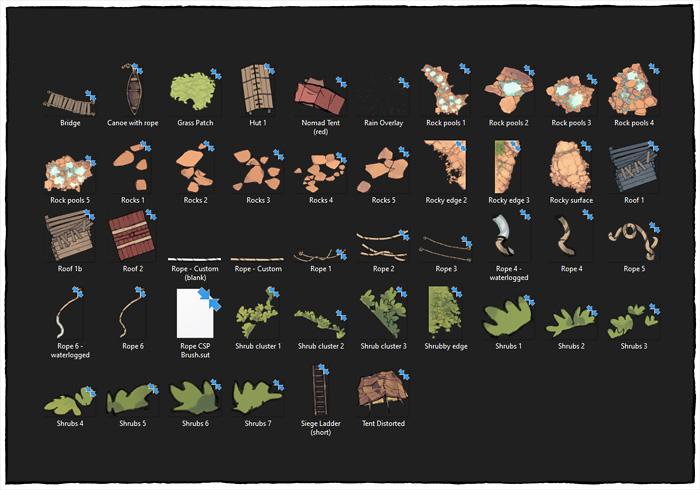 Rock Pools battle map - Map assets