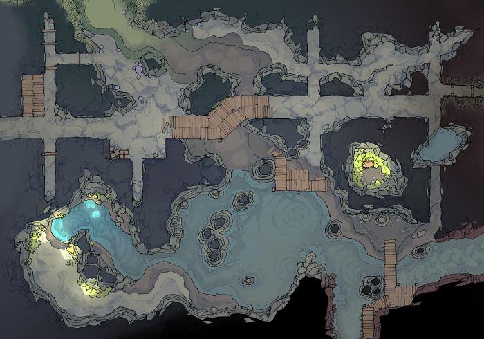 Abandoned Tunnels - Lake - Transition - 44x32