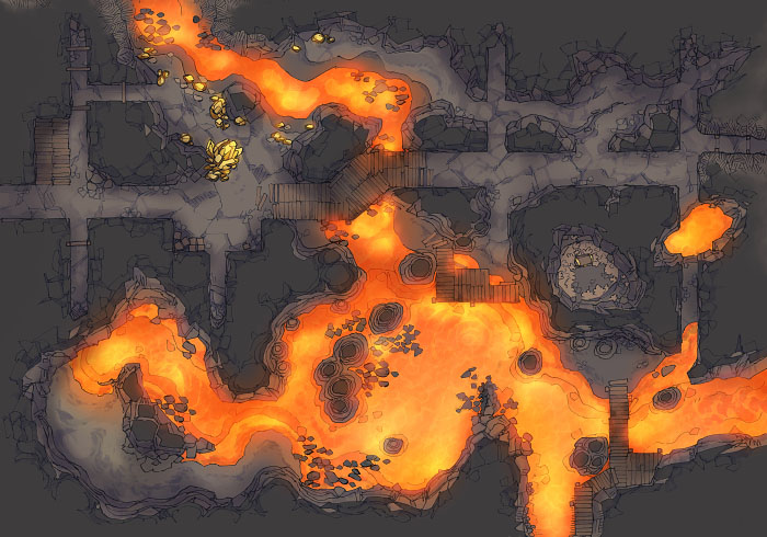 Abandoned Tunnels - Volcanic - Standalone - 44x32