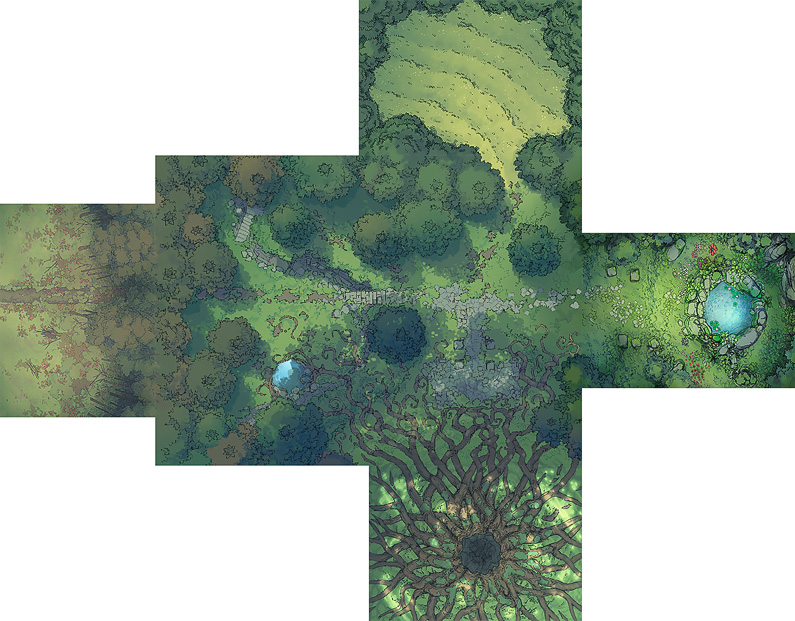 Fairy Glade battle map - Extended preview - Small