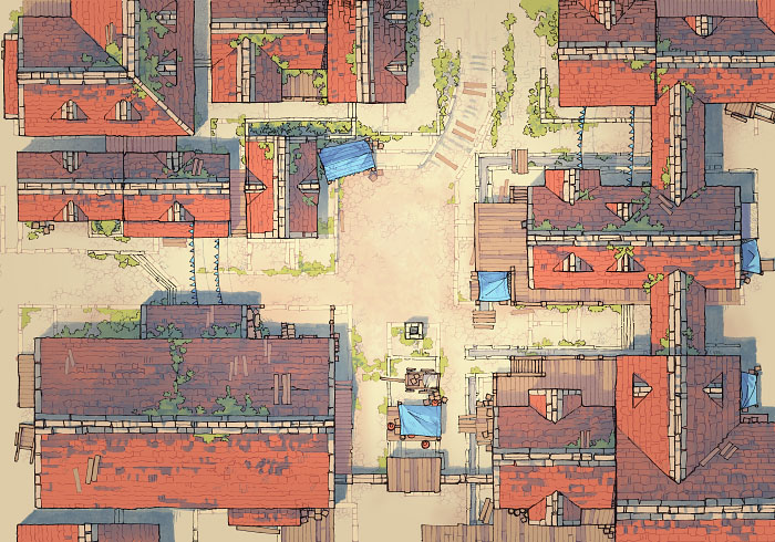 Town Center - Desert - Day - 44x32
