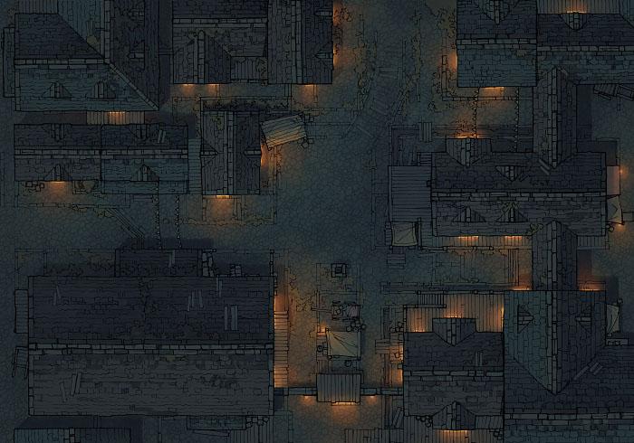 Town Center - Grimdark - Night - 44x32
