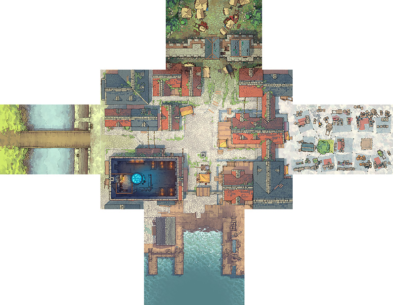 Town Center battle map - Extended preview - Small