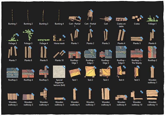 Town Center battle map assets