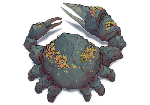 Basalt Crab - 12x12