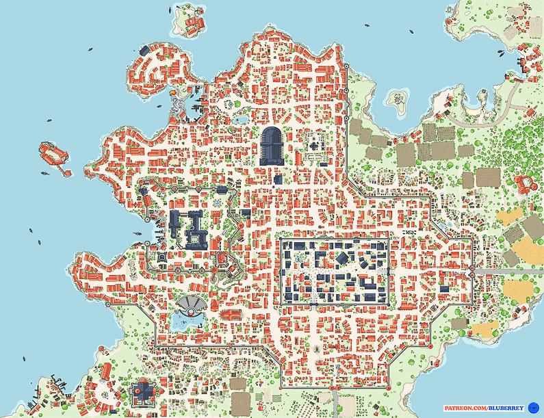 BluBerrey's City Maps - August