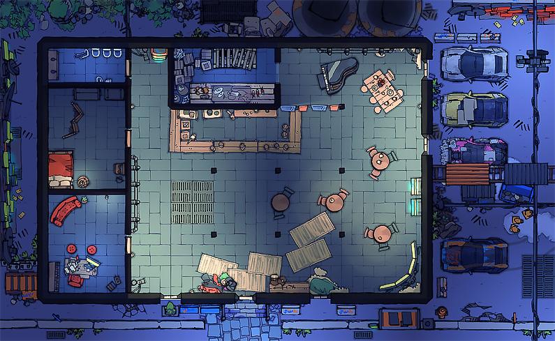 BluBerrey's Cyberpunk Battle Maps - Bar