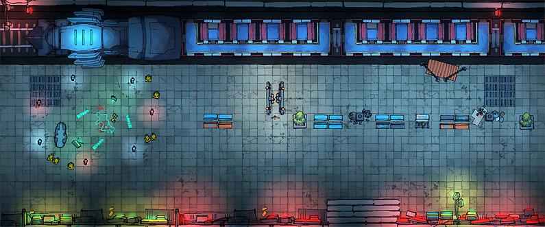 BluBerrey's Cyberpunk Battle Maps - Metro
