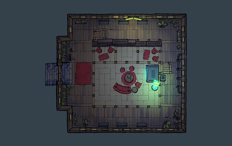 BluBerrey's Cyberpunk Castle battle map - Floor 1