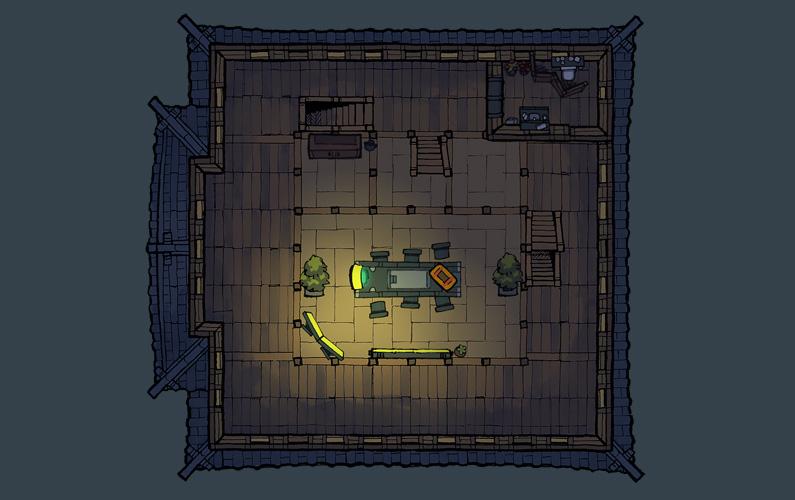 BluBerrey's Cyberpunk Castle battle map - Floor 2