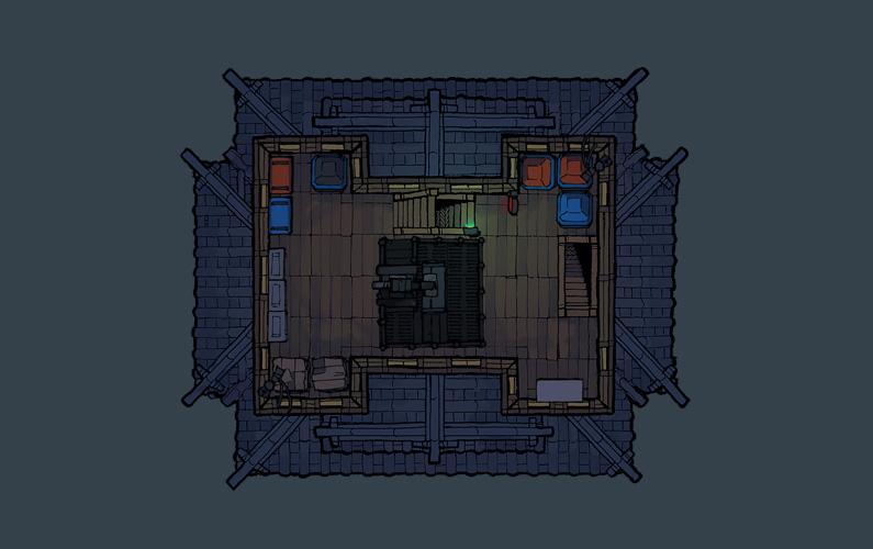 BluBerrey's Cyberpunk Castle battle map - Floor 4