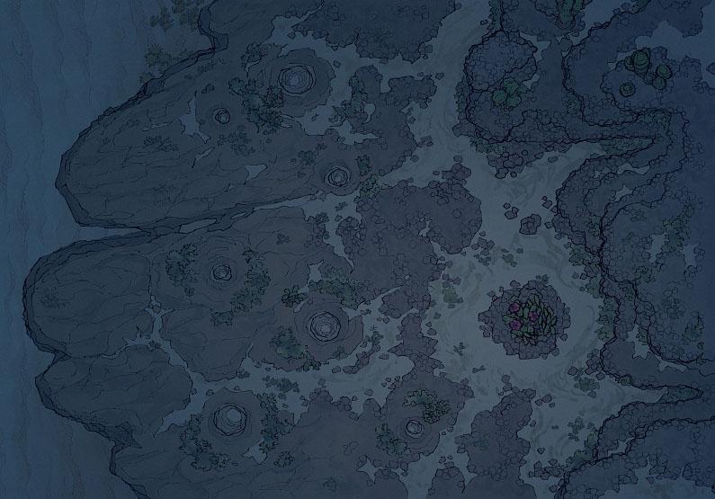 Crab Rock - Badlands - Night - 44x32