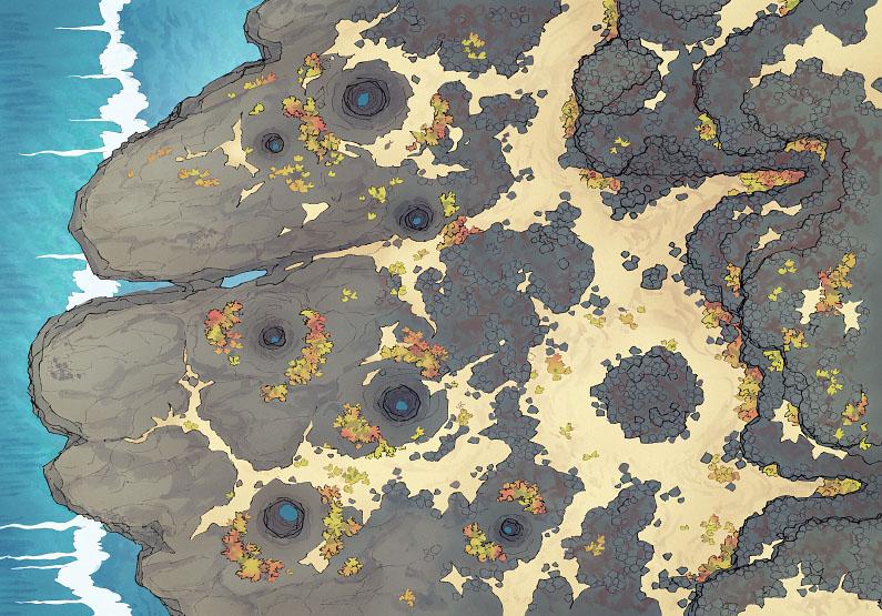 Crab Rock - Seaside - Clear - 44x32