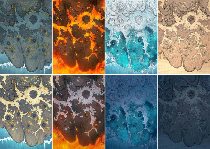 Crab Rock battle map - Variants - Large