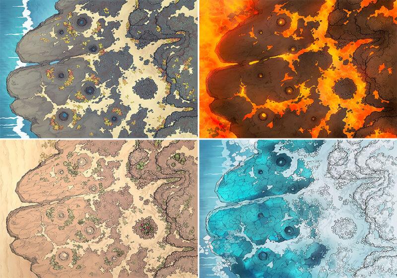 Crab Rock battle map - Variants - Small