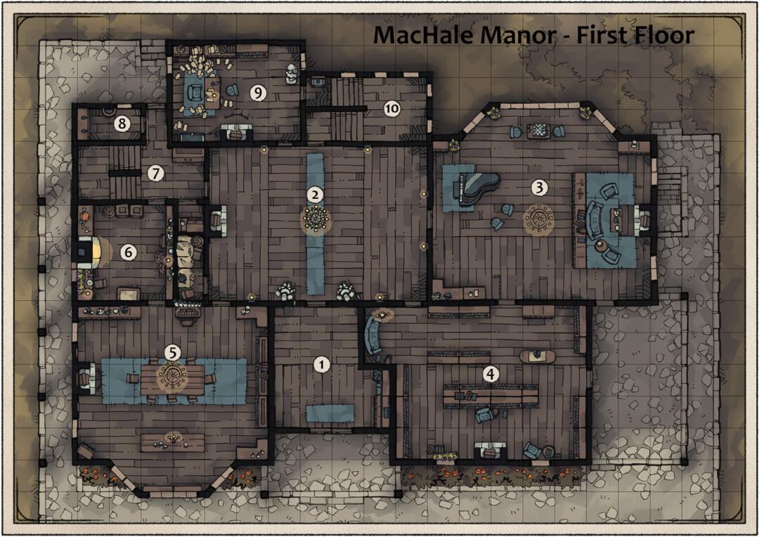 MacHale Manor First Floor