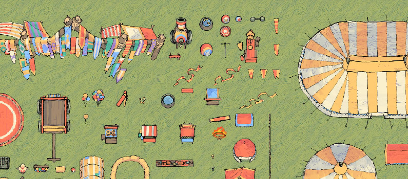 Circus Map Assets - Banner - Small