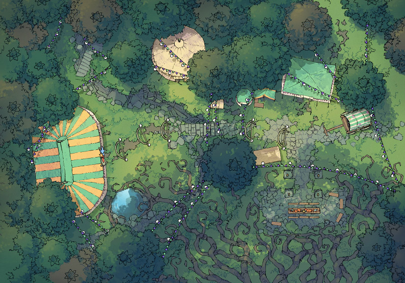 Circus Map Assets - Fairy Glade - Day - 44x32