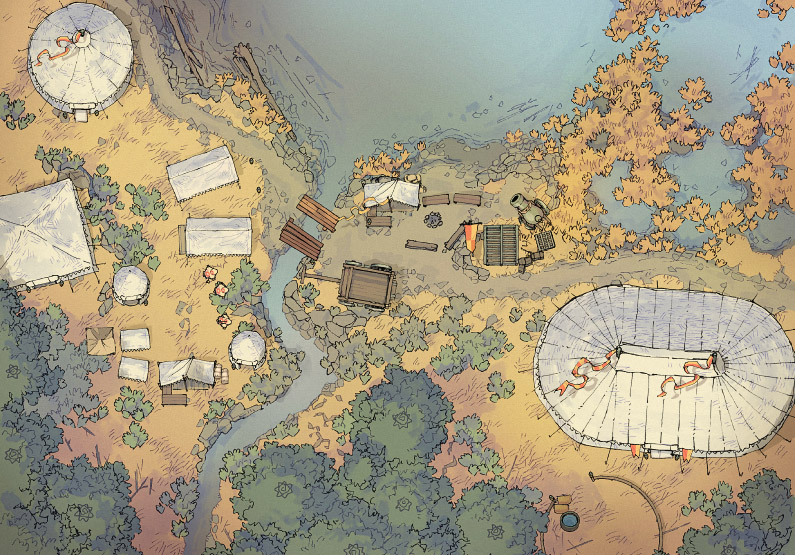 Circus Map Assets - Lakeside Camp - Day - 44x32