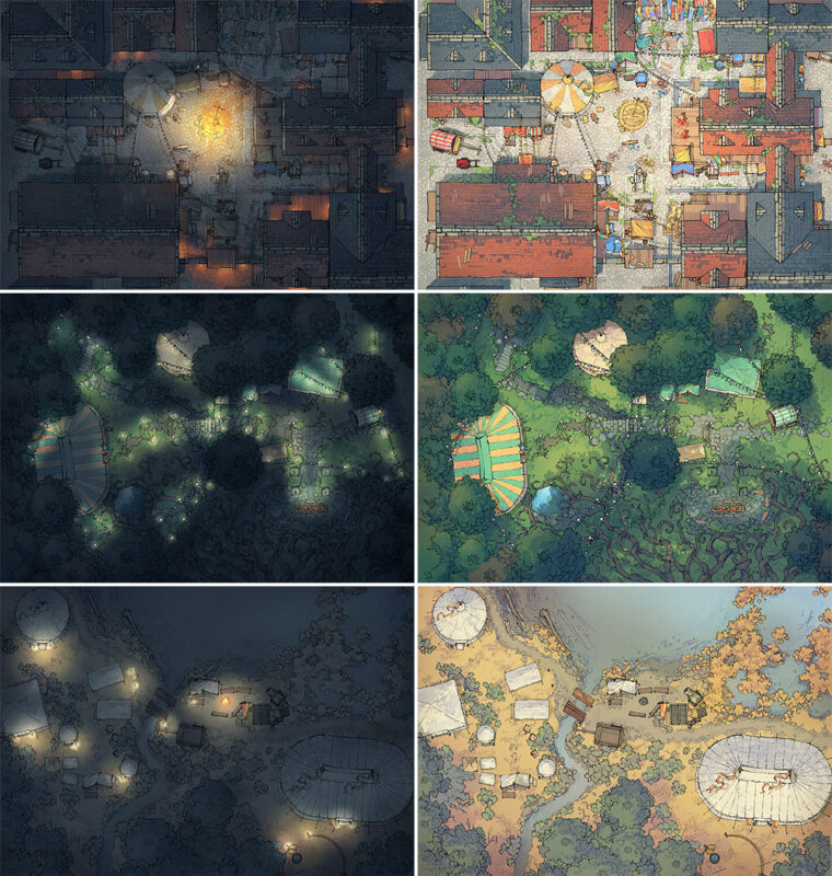 Circus Map Assets - Map variants extended