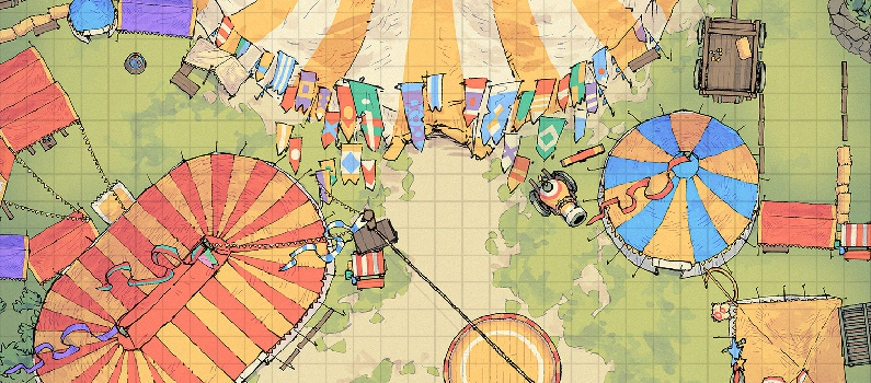 Circus Tent Carnival - Banner - Small