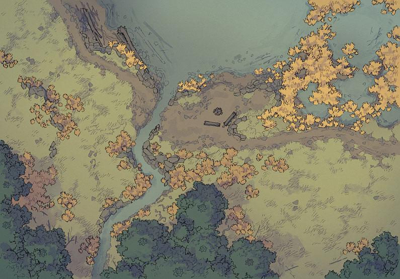 Lake - Muted - Day - 44x32