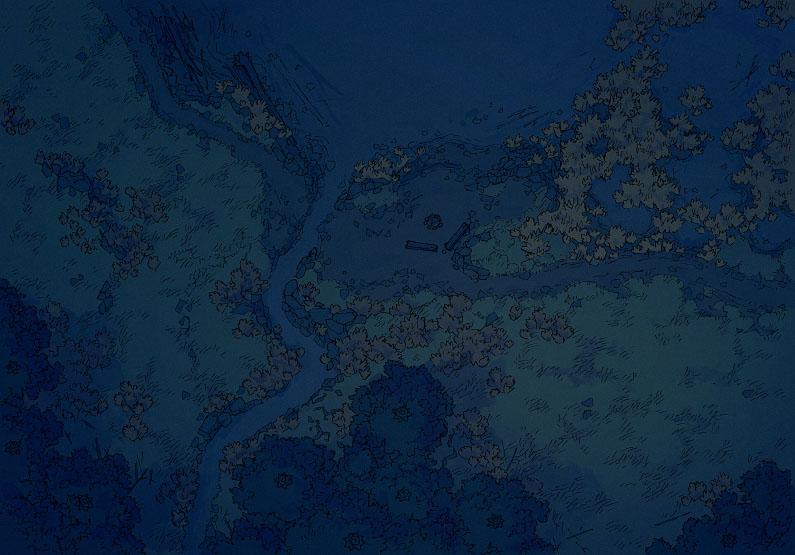 Lake - Muted - Night - 44x32