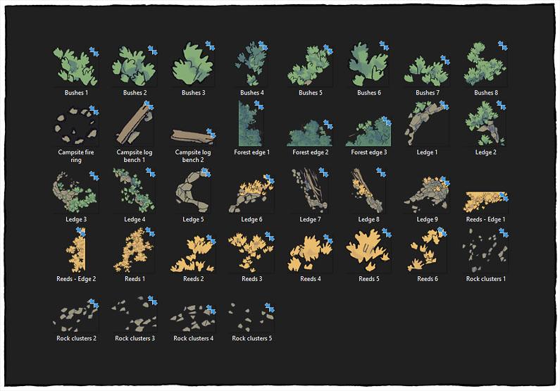 Lakeside Camp battle map - Map assets copy