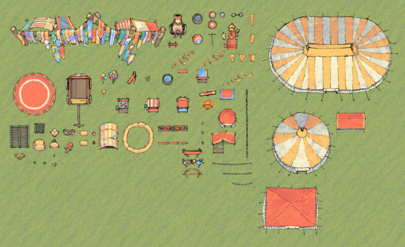 Circus Map Assets complete preview